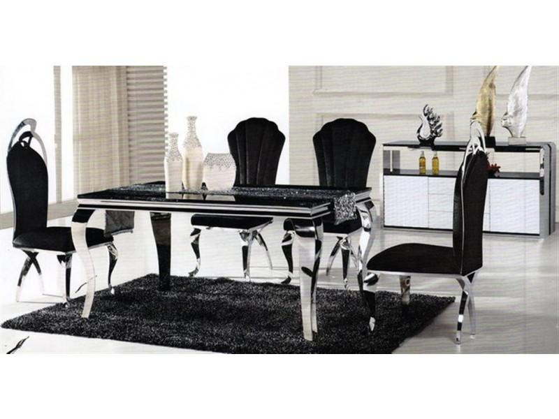 chaises en inox camille lot de 2. Black Bedroom Furniture Sets. Home Design Ideas