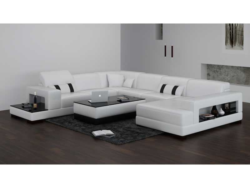 canape d39angle panoramique en cuir toulouse pop designfr With canape angle toulouse