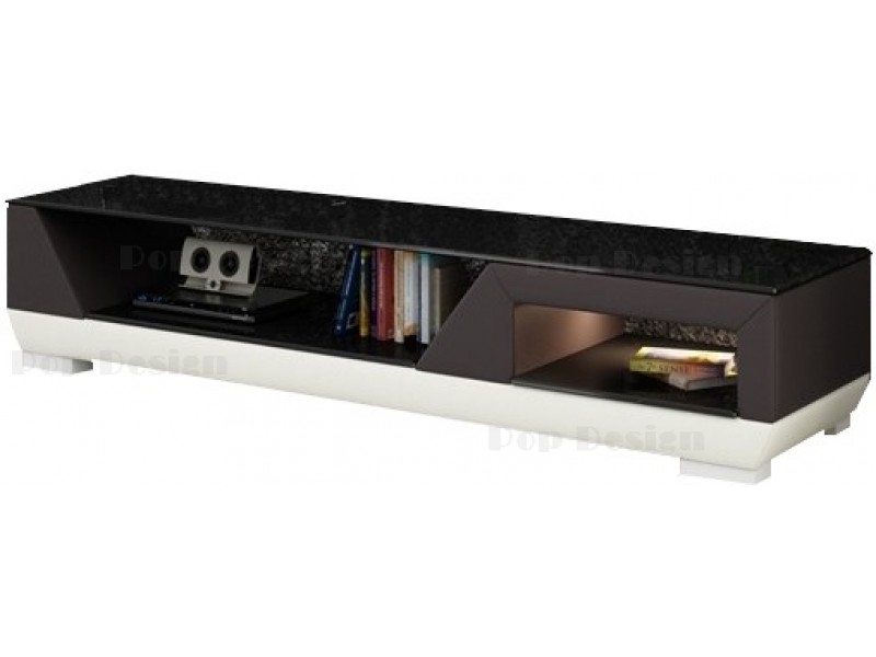 meuble tv design personnalisable klin pu aspect cuir pop. Black Bedroom Furniture Sets. Home Design Ideas