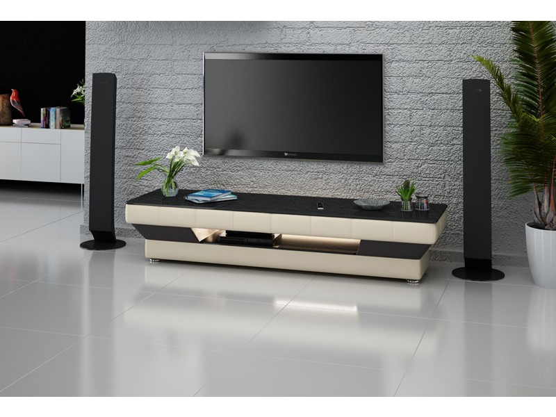 meuble tv personnalisable california avec clairages pop. Black Bedroom Furniture Sets. Home Design Ideas