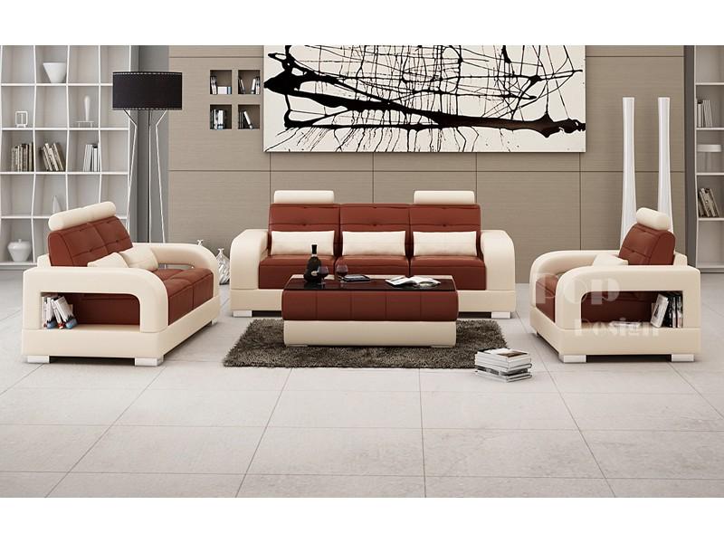 Salon Set Canapés Personnalisable En Cuir Design Salerno Pop - Cuir salon