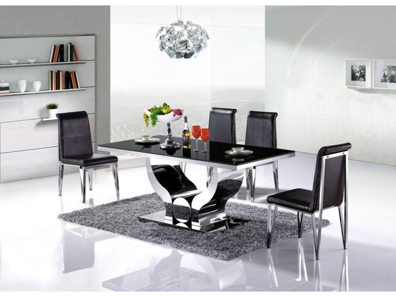 Table de salle manger en inox nova pop - Destockage salle a manger ...