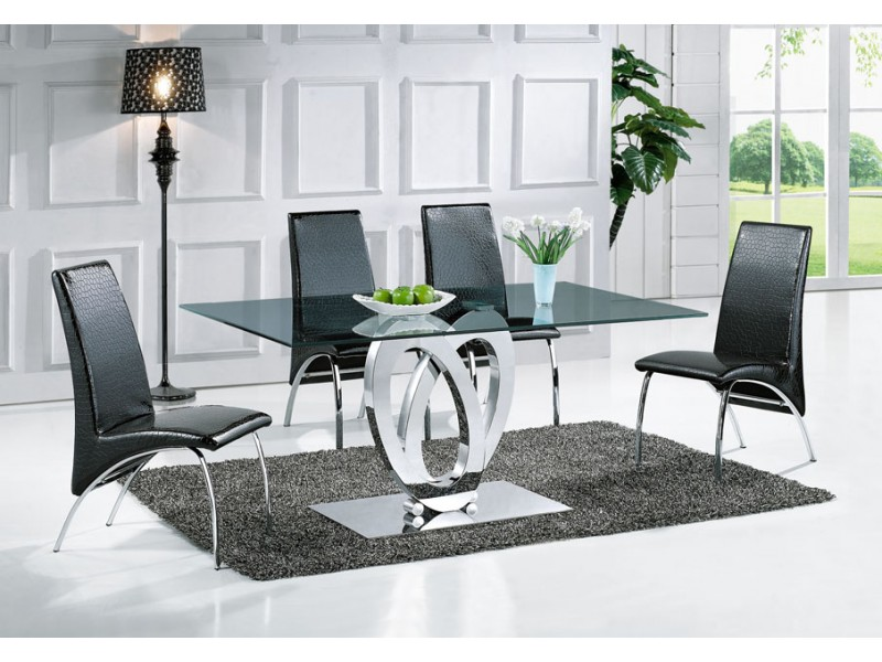 table de salle manger design ellipse taille au choix tables de salle. Black Bedroom Furniture Sets. Home Design Ideas