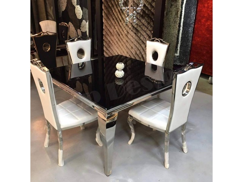 table de salle manger baroque duchesse carr e. Black Bedroom Furniture Sets. Home Design Ideas