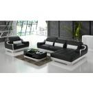 Canapé d'angle en cuir + fauteuil NODI (miniature)