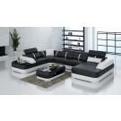 Canapé d'angle panoramique en cuir MALENA