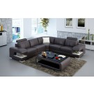 Grand canapé d'angle en cuir MELIRO - 270x270cm