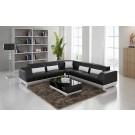 Grand canapé d'angle en cuir BASARO - 270x270cm