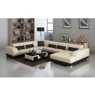 Canapé d'angle panoramique en cuir BASARO
