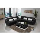 Grand canapé d'angle en cuir BATIVA