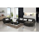 Canapé d'angle en cuir + fauteuil BATIVA