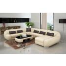 Canapé d'angle panoramique en cuir BATIVA
