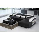 Canapé d'angle en cuir DELAVO - 330x176cm