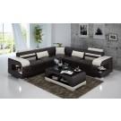 Grand canapé d'angle en cuir DELAVO - 270x270cm