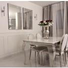 Table de salle à manger baroque Duchesse - placage marbre blanc