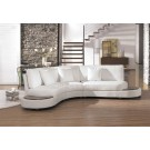 Canapé design demi lune en cuir Foggia - S