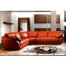Grand canapé d'angle en cuir CARMEN