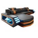 Canapé d'angle en cuir Luma - siège supplémentaire - 385cm au lieu de 310cm
