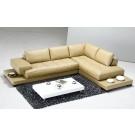 Canapé d'angle en cuir LARA