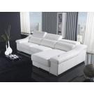 Canapé d'angle en cuir MONTEVIDEO