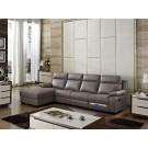 Canapé d'angle en cuir Relax ADRIEN