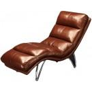 Fauteuil de relaxation en cuir MAJOR - Lot de 2