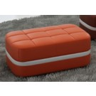 Grand Pouf rectangulaire en cuir CHESTER