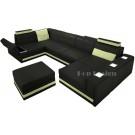 Canapé d'angle panoramique en cuir STRASBOURG