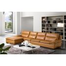 Canapé d'angle en cuir ALBAN