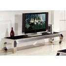Meuble TV en inox et verre / marbre PALACE