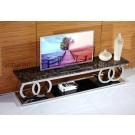 Meuble TV en inox DALIDOR