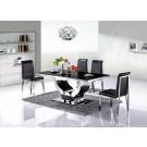 Table de salle à manger en inox Nova