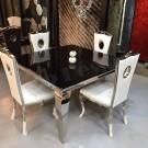 Table de salle à manger baroque Duchesse carrée