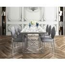 Table de salle  à manger inox chromé Levanto