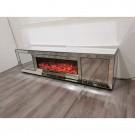 Superbe meuble tv avec cheminée electrique FIBRAMU