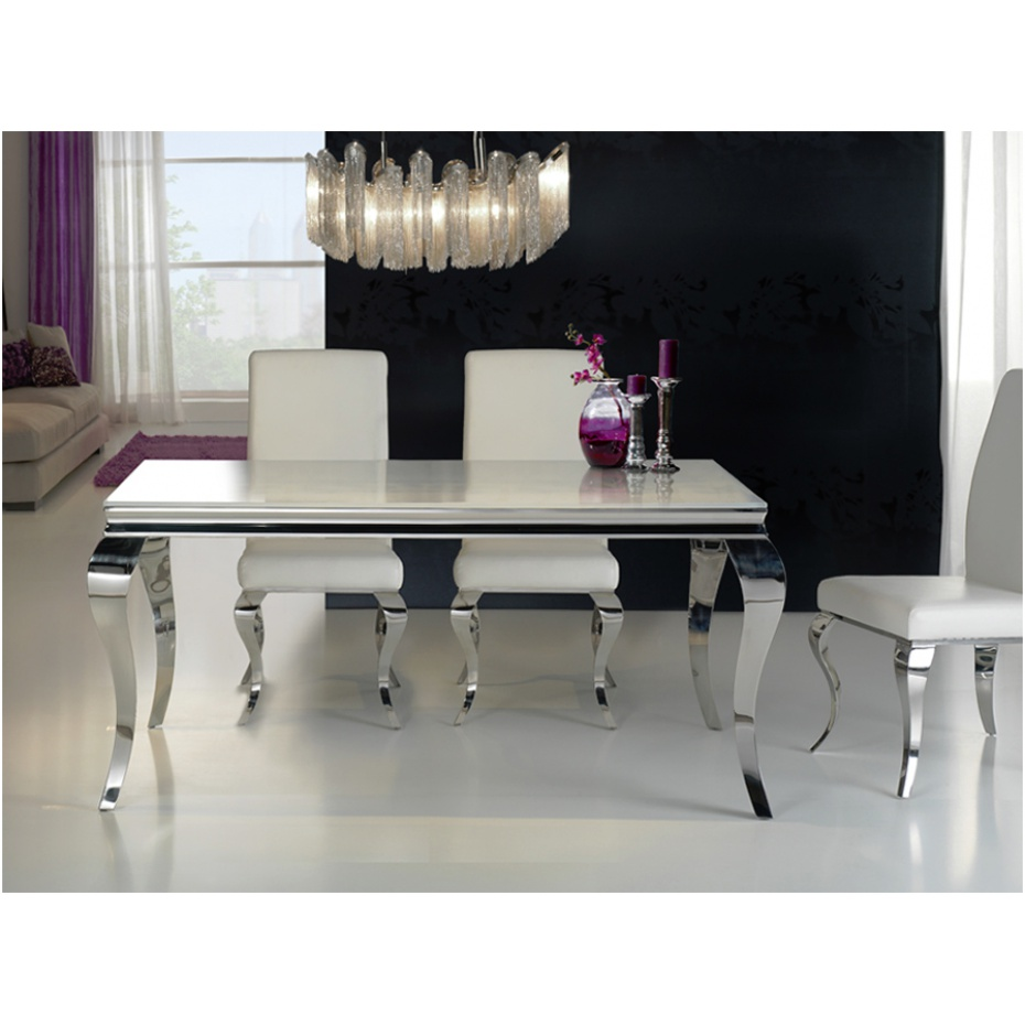 Pop canap s design en cuir v ritable en cuir for Table de salle a manger style baroque