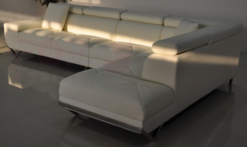 Canap d 39 angle en cuir v ritable siena pop for Acheter canape paris