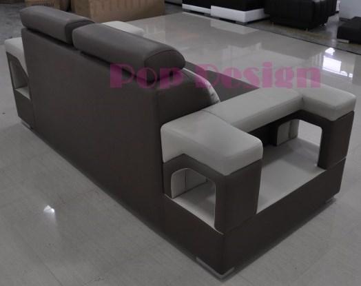 Fauteuil canap s en cuir nimes lit convertible en option pop - Canape 2 places fauteuil assorti ...