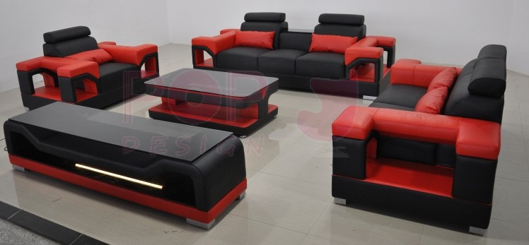 Table basse design nimes pop - Meuble tv rouge et noir ...
