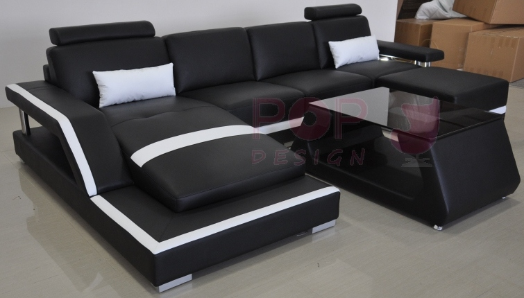 canap d 39 angle design en cuir v ritable tosca l lit convertible. Black Bedroom Furniture Sets. Home Design Ideas